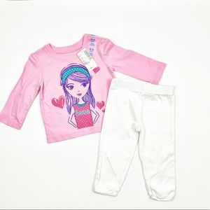Children's Place Long Sleeves Top with Pants